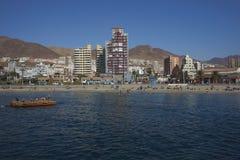 Sandy Beach in Antofagasta, Chile. Sandy beach along the Pacific Ocean at Antofagasta in the Atacama Region of Chile stock images