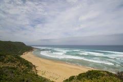Sandy Beach auf der großen Ozean-Straße, Süd-Victoria Stockbild