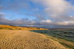 Sandy beach in autumn Stock Photography