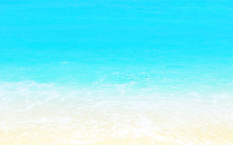 Sandy beach background. With turquoise water, abstract natural  blue white backdrop, calm clean tropical sea, travel and summer holidays concept Royalty Free Stock Photography