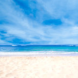 Sandy beach background. Next to ocean, Hawaii, Kauai Royalty Free Stock Image