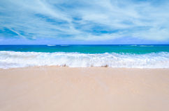 Sandy beach background Stock Photo