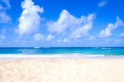 Sandy beach background. Next to ocean, Hawaii, Kauai Stock Image