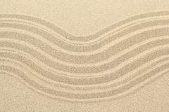 Sandy beach background texture with lines Royalty Free Stock Photos