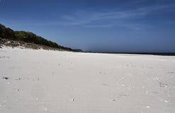 Sandy beach on the Baltic coast Stock Images