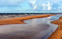Sandy beach of the Baltic sea Royalty Free Stock Photography