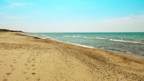 Sandy beach on a Baltic sea coast stock video footage