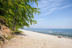 Sandy Beach at Baltic Sea in Gdynia Royalty Free Stock Image