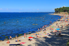 Sandy beach on the Baltic Sea Stock Images