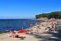 Sandy beach on the Baltic Sea Royalty Free Stock Photos