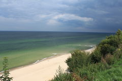 Sandy beach, Baltic Sea, Poland Royalty Free Stock Images