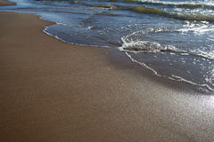 Sandy beach of the Baltic Sea. Royalty Free Stock Images
