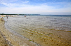 Sandy beach on Baltic sea Royalty Free Stock Photo