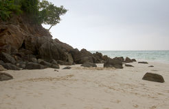 Sandy Beach on Bamboo Island Stock Images