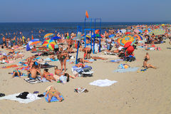 The sandy beach on the bank of the Baltic Sea Stock Images