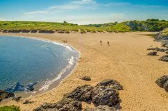 Sandy beach. Barafundel bay in Pembroke. One of the top ten best beaches in the UK royalty free stock photos