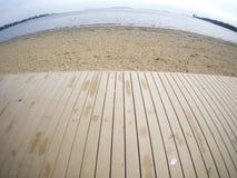 Sandy Beach in Boston Massachusetts Stock Photos