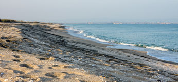 Sandy Beach Bulgarian, autumn Royalty Free Stock Photo