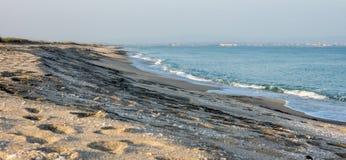 Sandy Beach Bulgarian, autunno Fotografia Stock Libera da Diritti