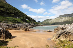 Sandy beach in Cantabria, Spain Royalty Free Stock Photo