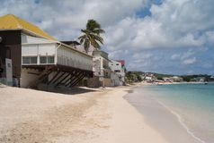 Sandy Beach in the Caribbean stock photos