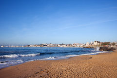 Sandy Beach in Cascais in Portugal Royalty Free Stock Photos