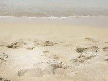 Sandy beach closeup Royalty Free Stock Photography