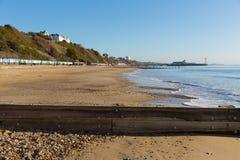 Sandy beach coast of Bournemouth Dorset England UK Royalty Free Stock Images