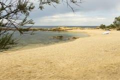 Sandy beach coast corsica Royalty Free Stock Photography