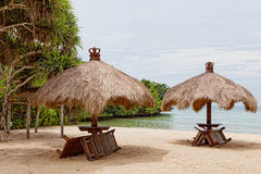Sandy beach at coast of Indian ocean Stock Images