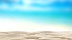 Sandy Beach com mar do borrão Imagem de Stock Royalty Free