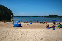 Sandy Beach at a Community Park Royalty Free Stock Images