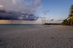 Sandy beach in Cuban summer Royalty Free Stock Images