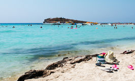 Sandy Beach, Cyprus Royalty Free Stock Photos