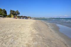 Sandy Beach de Artemis, Attica, Grécia Fotografia de Stock