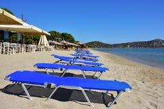Sandy Beach de Schinias, maratona, Grécia Foto de Stock
