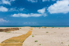 Sandy beach in Delta del Ebro Royalty Free Stock Image