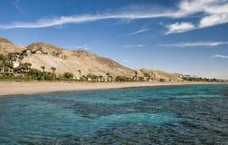 Praia do sul de Eilat, Israel imagem de stock