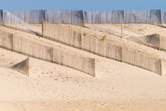 Sandy beach and dunes in Portugal Stock Image