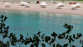 Sandy Beach e Crystal Clear Sea maravilhosos filme