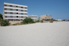 Sandy Beach e hotéis Fotografia de Stock