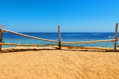 Sandy beach in egyptian stock images