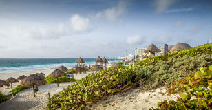 Sandy Beach em Cancun, México fotografia de stock royalty free
