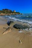 Sandy Beach em Chipre Imagem de Stock