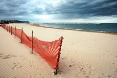 Sandy beach in Fall Stock Photography