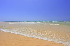 Sandy beach at Faro. Portugal stock photography