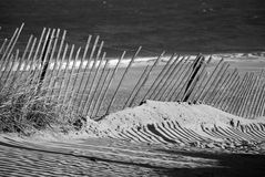 Sandy Beach Fence Imagen de archivo