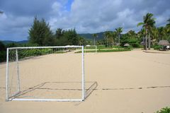 Sandy Beach football Stock Images