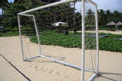 Sandy Beach football Royalty Free Stock Image