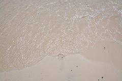 Sandy beach with footprint Stock Photos